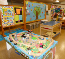 Train and sensory tables