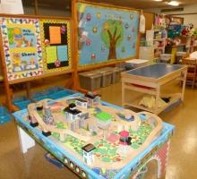 Train and sensory tables